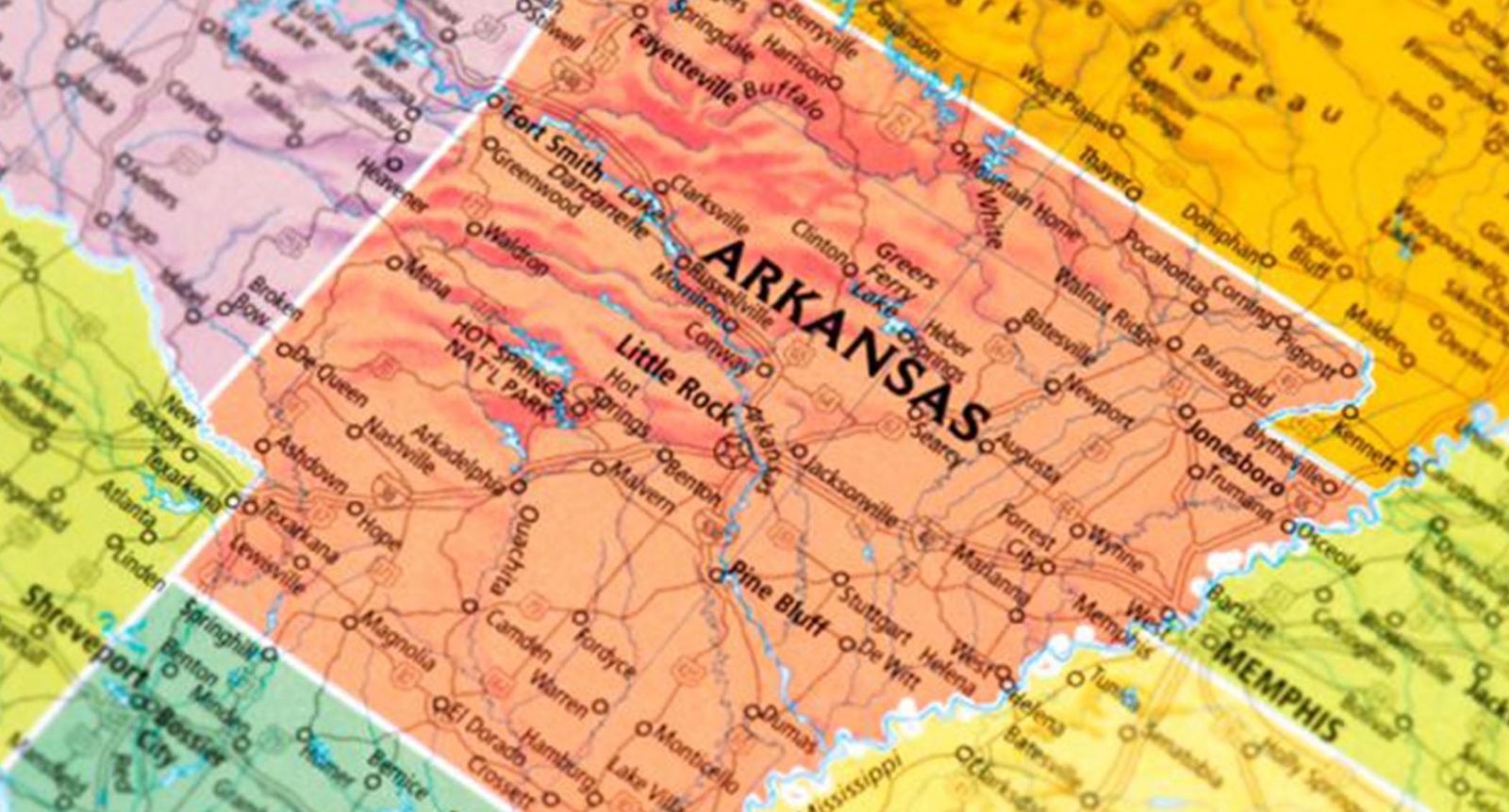Image of Arkansas Map